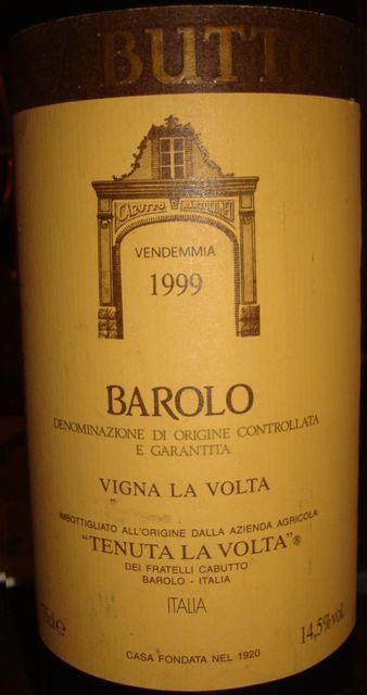 Barolo Cabutto Vigna La Volta 1999