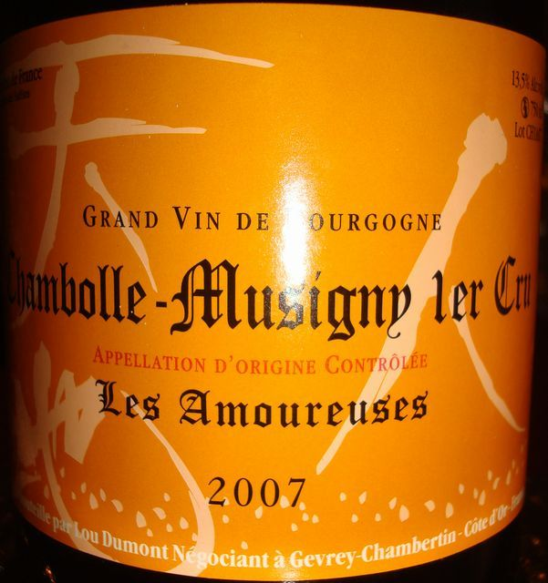 Chambolle Musigny Les Amoureuses Lou Dumont 2007