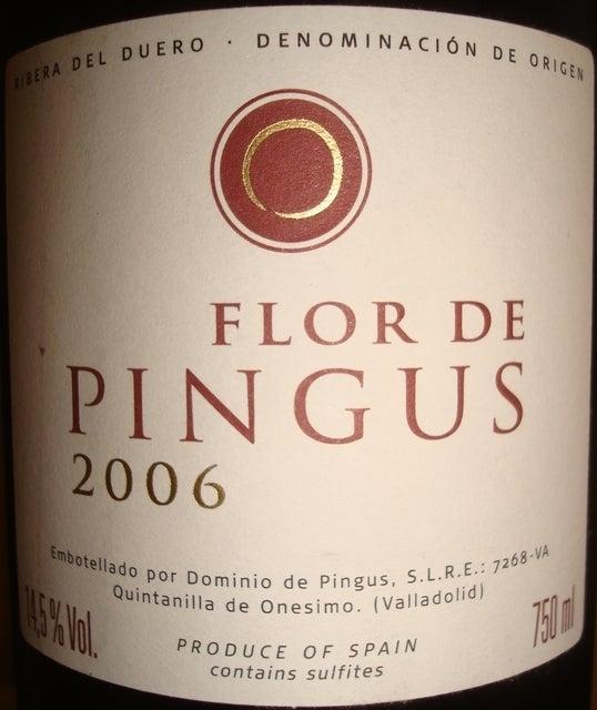 Flor de Pingus Dominio de Pingus 2006