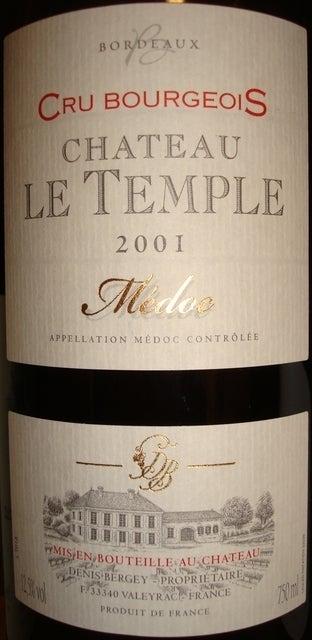 CHateau Le Temple 2001