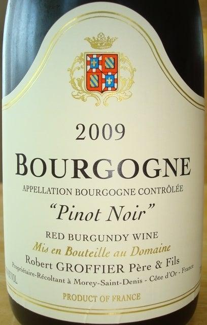 Bourgogne Pinot Noir Robert Groffier 2009