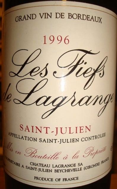 Les Fiefs de Lagrange 1996