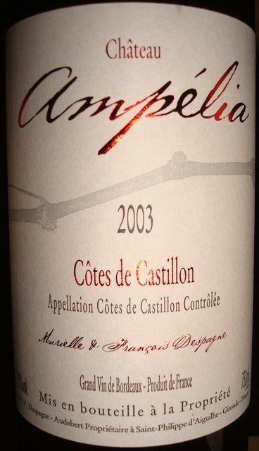 Chateau Ampelia 2003