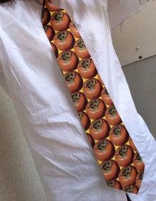 柿並んだネクタイ