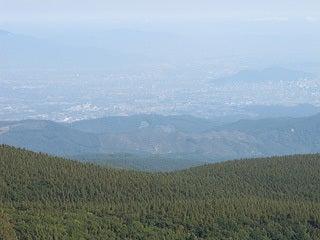 薬師岳から眺める福島市内