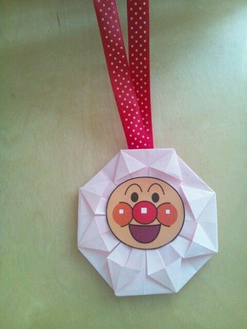 ハート 折り紙 折り紙 メダル アンパンマン : ameblo.jp