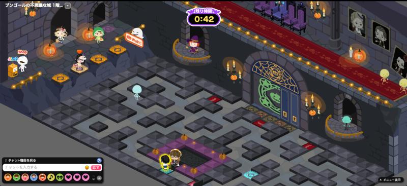 ピグのハロウィン迷路ゲーム