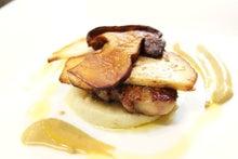 フォアグラとセップ茸、松茸のソテー