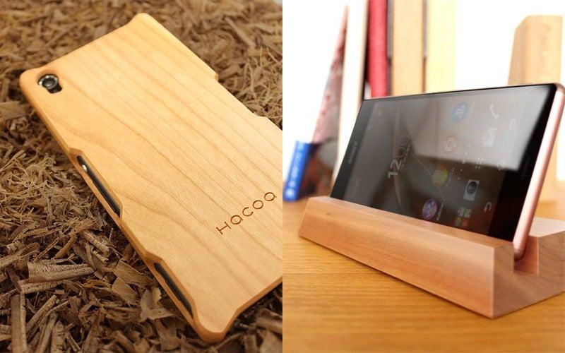 Xperia Z3用木製ケース&スタンド