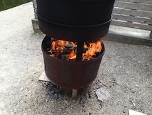 イモヤケール 薪の使用量