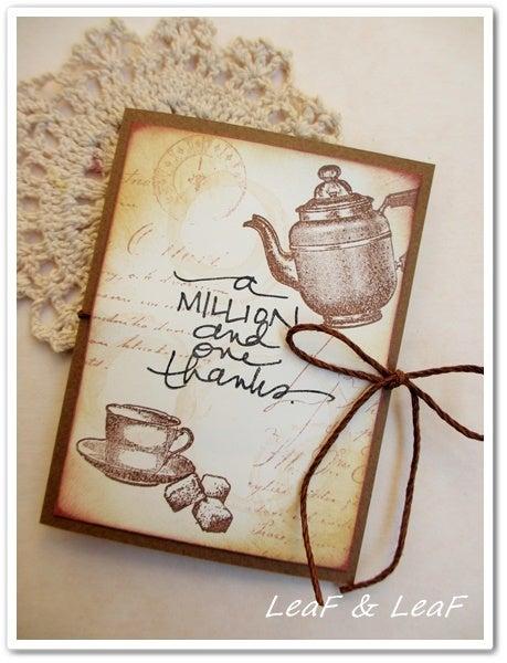紅茶プレゼントするカード