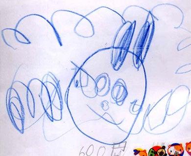 子供の絵 年賀状