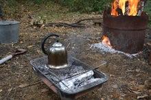焚き火でお茶