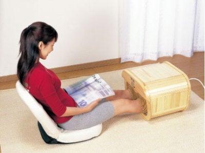 生理痛・更年期障害改善に温泉のような足温器