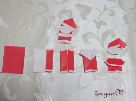 ハート 折り紙 サンタクロース 折り紙 作り方 : ameblo.jp