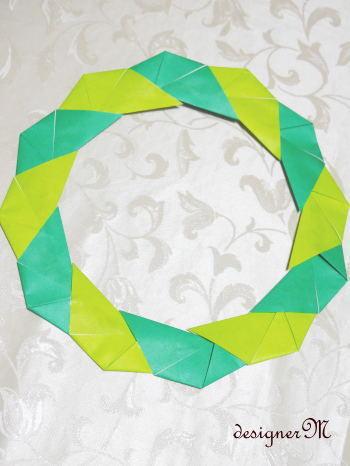 簡単 折り紙 折り紙リース作り方簡単 : ameblo.jp