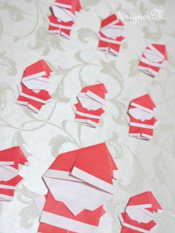 ハート 折り紙 : サンタクロース 折り紙 作り方 : ameblo.jp