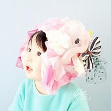 フラミンゴ帽子*可愛い子供帽子