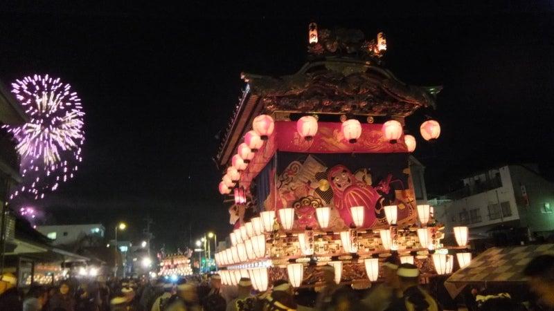 秩父の夜祭 屋台と花火