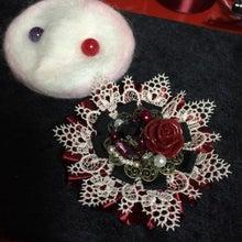 薔薇ブローチ