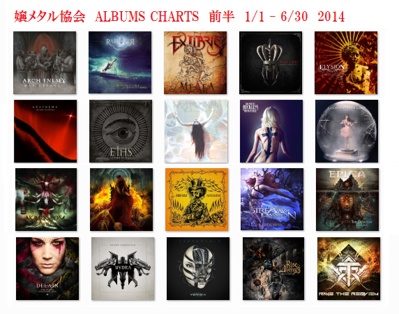 2014 Albums Charts 前半戦