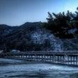 雪景色×渡月橋