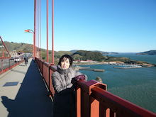 Golden Gate Bridgeの橋の欄干