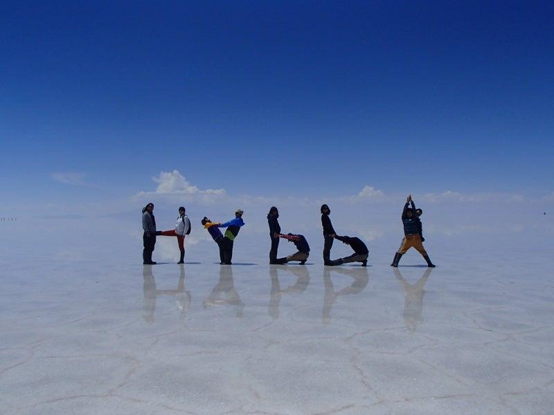 憧れのウユニ塩湖に来れて気分はまさにハッピー スマイリー