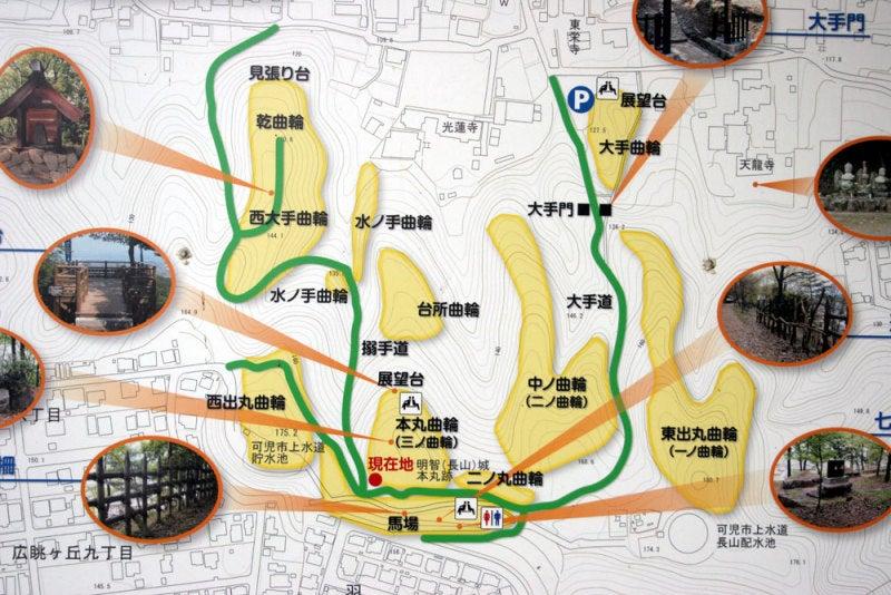 明智城/①案内図
