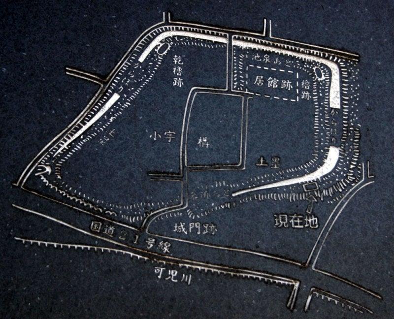 顔戸城/①縄張図