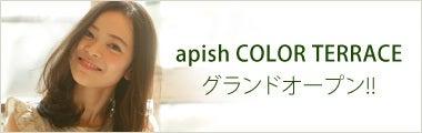 アピッシュ カラーテラスオープンのおしらせ