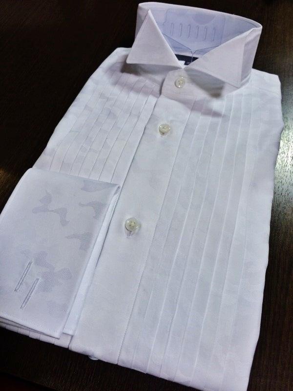 カモフラタキシードシャツ