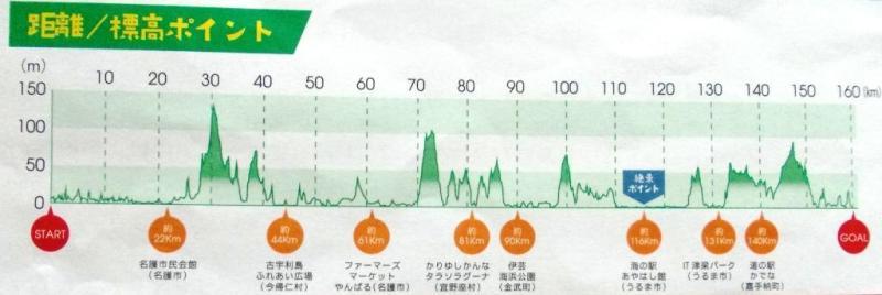 美ら島オキナワCentury Run 地図 2015