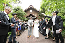 軽井沢ウェディング軽井沢追分教会挙式ノエル