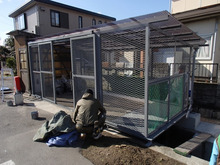 岡山市東区のゴミステーション拡張工事