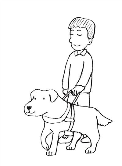 盲導犬イラスト