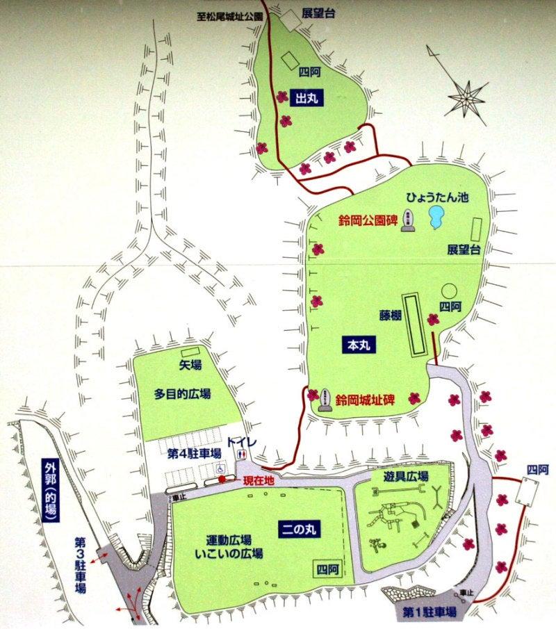 鈴岡城/①案内図