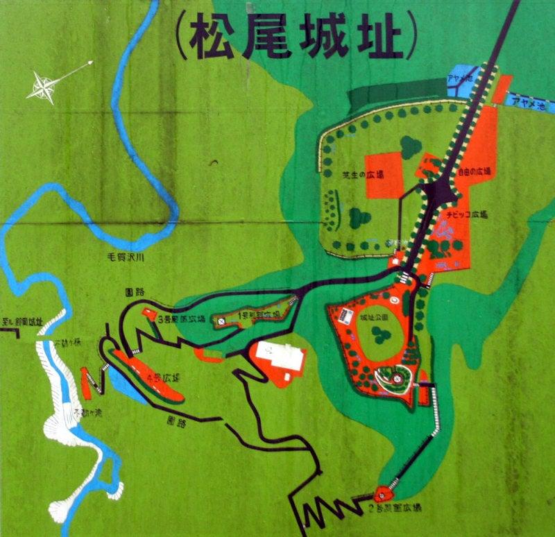 松尾城/①公園の案内図