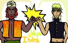 インドラ(左)とヴァーユ(右)