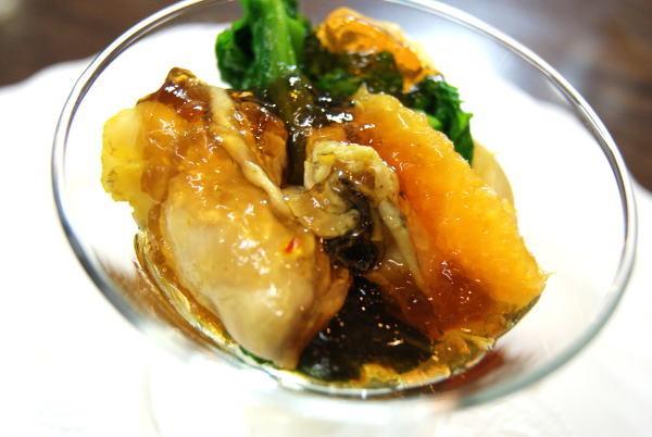牡蠣と帆立貝のジュレ
