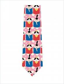 たまごびな並んだネクタイ(ピンク)