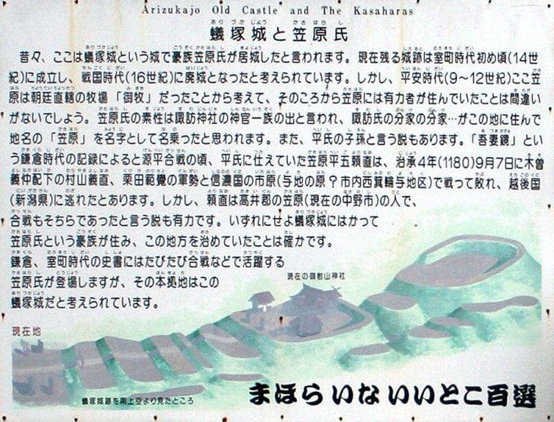 蟻塚城/①説明板