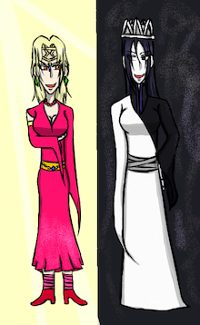 イシュタル(左)とエレシュキガル(右)