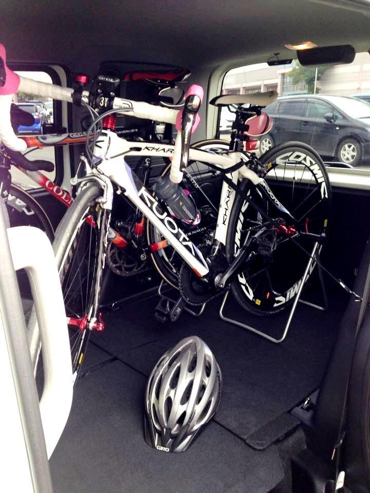 モビリオスパイクに自転車積む