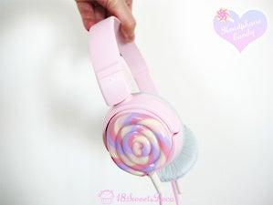 ペロペロキャンディのヘッドフォン