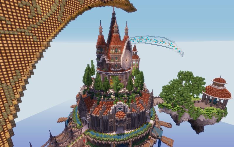 minecraft 空島 天空の城 月の城