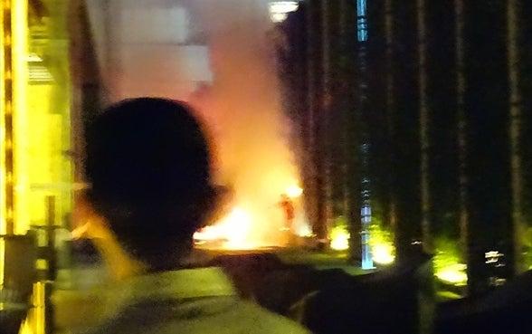 車が炎上 その2