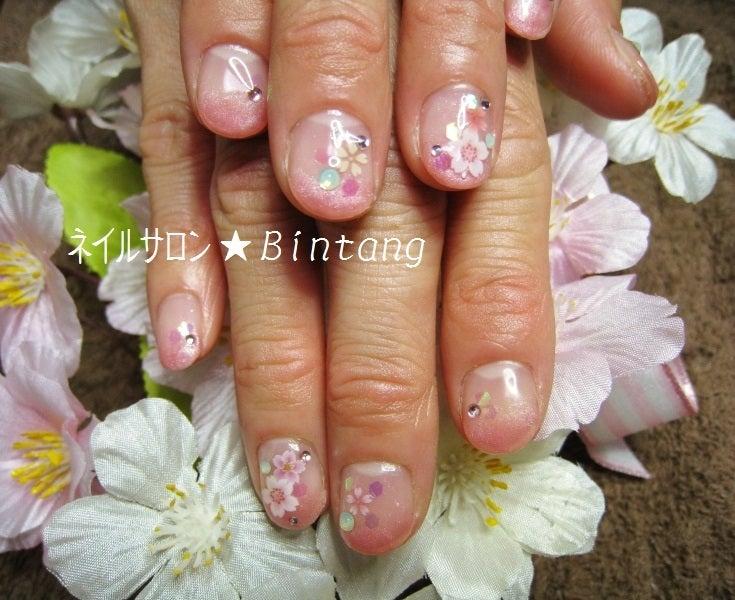 桜満開ジェルネイル 定額デザイン