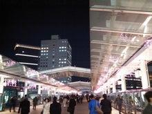 駅へのペデデッキ