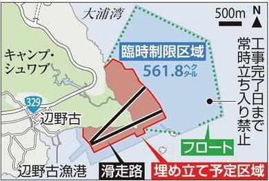 辺野古基地周辺マップ